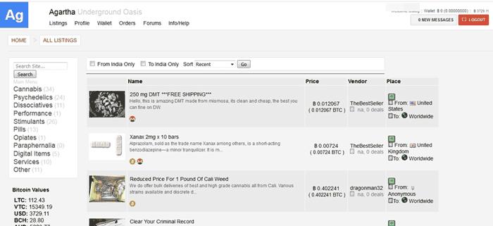 Agartha Marketplace User Interface