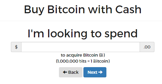 buy bitcoin with cash