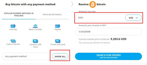 Buy Bitcoins with PayPal